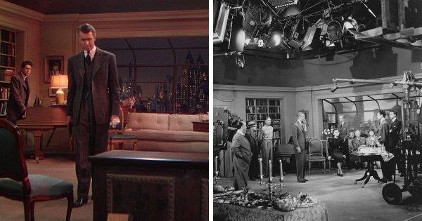 На съёмках фильма Альфреда Хичкока «Верёвка» (1948)