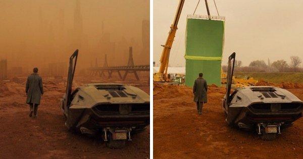 Съёмки фильма «Бегущий по лезвию 2049» (2017): до и после применения визуальных эффектов