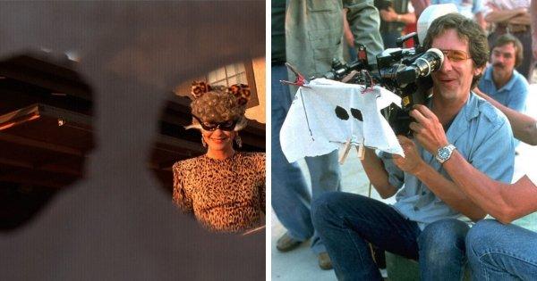 Съёмки от первого лица в костюме привидения в фильме «Инопланетянин» (1982)