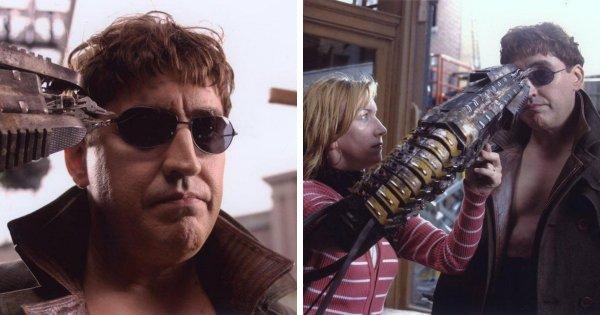 Для съёмок тонкой работы железных рук злодея из «Человека-паука 2» (2004) использовали ассистентку