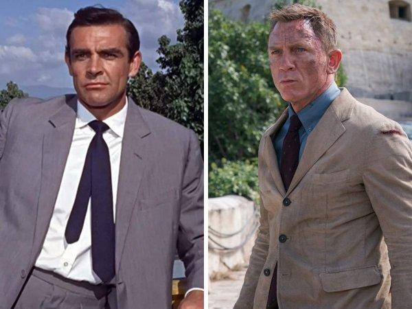 Джеймс Бонд.  Тогда и сейчас: как со временем изменились образы популярных мужских киноперсонажей