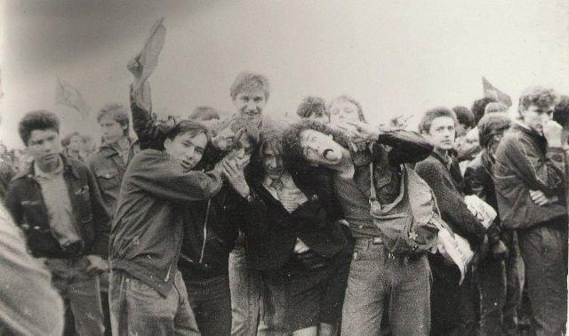 Главным рок-фестивалем был «Монстры рока» с выступлениями AC/DC, Metallica, Pantera. СССР, 1991 год.