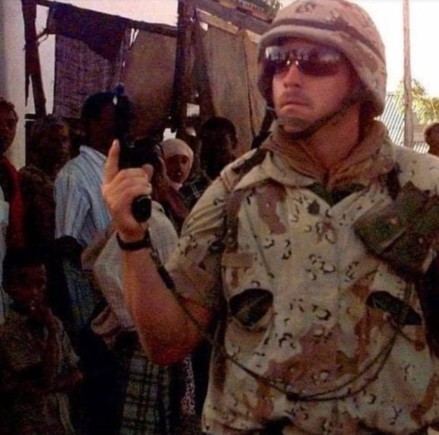 Американский солдат в Могадишо. Сомали, 1993 год.