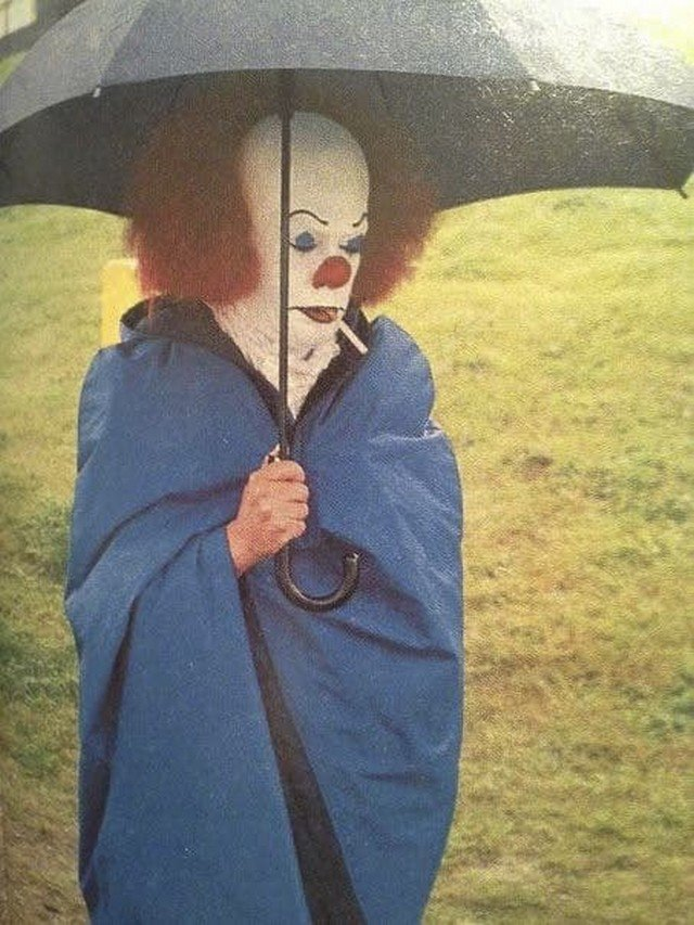 "Тим Карри на съёмках фильма ""Оно"", 1990 год."