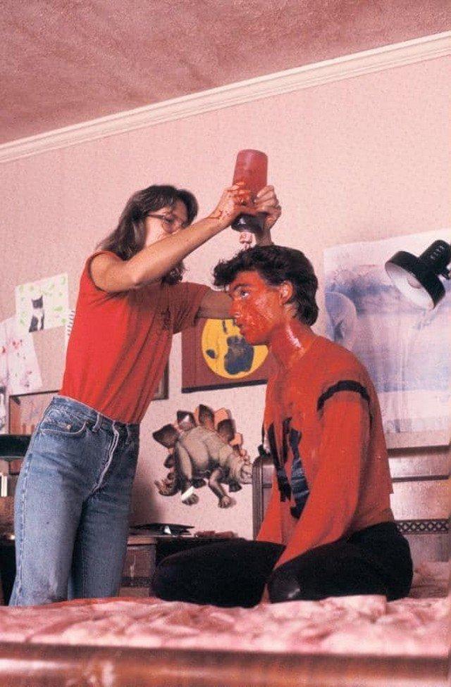 """Джонни Депп на съемках фильма """"Кошмар на улице Вязов"""", 1984 год."""