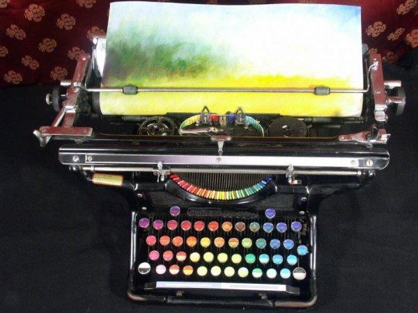 Так выглядит цветовая печатная машинка. Автор — американка Тайри Каллахан.