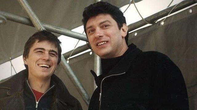Сергей Бодров и Борис Немцов. Москва, 2001 г.