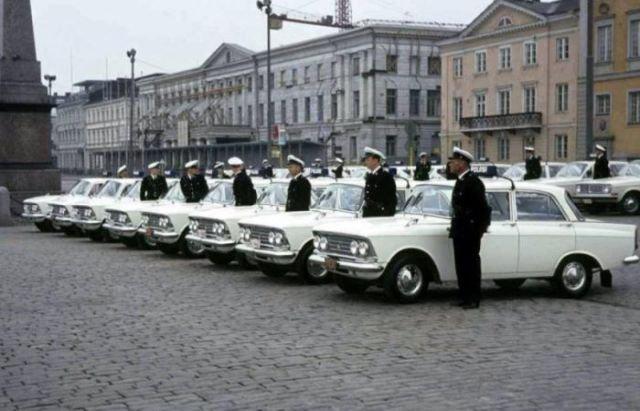 Автомобили Москвич–408 на службе у финской полиции, 1965 год, Хельсинки
