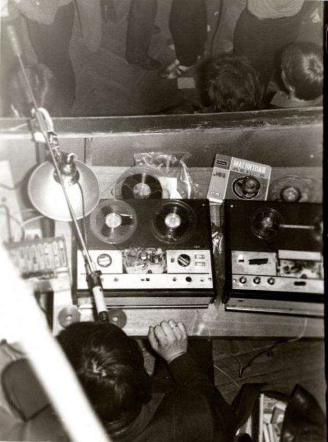 Диджей на дискотеке, 1980–е годы, СССР
