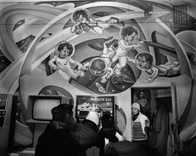 В зале игровых автоматов, 1988 год, СССР