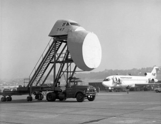 Тренажер рулежки самолетом Boeing 747, 1970–е годы, США