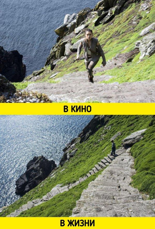 Остров Люка Скайуокера на планете Ак-То, он же остров Скеллиг-Майкл в Ирландии