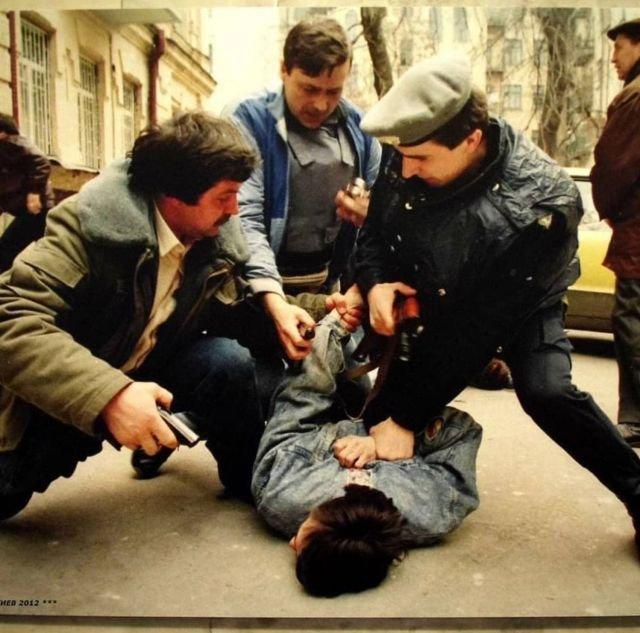 Арест рэкетиров в Киеве в начале 90-х