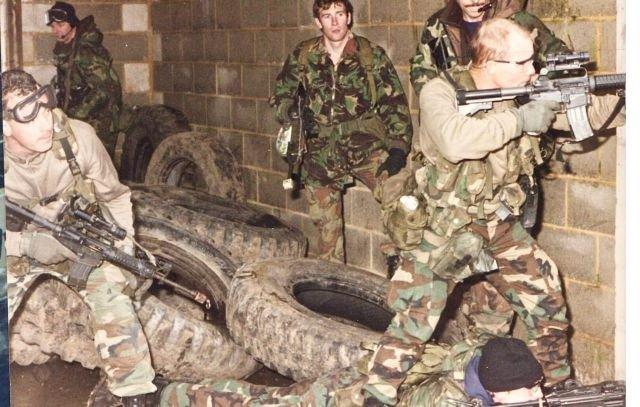 """Британский SAS и американская """"Дельта"""" во время совместных учений. 1992 год."""