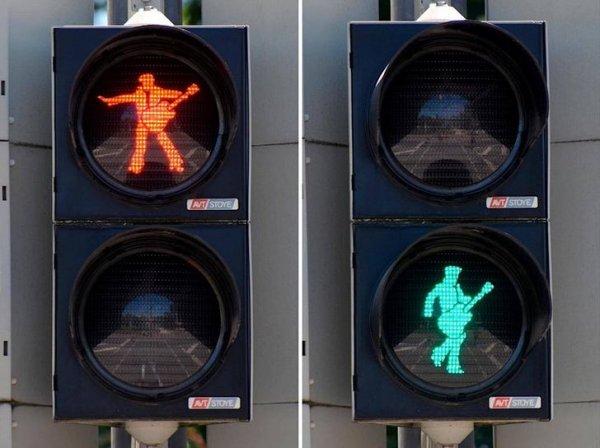Немцы очень креативно подходят к созданию светофоров