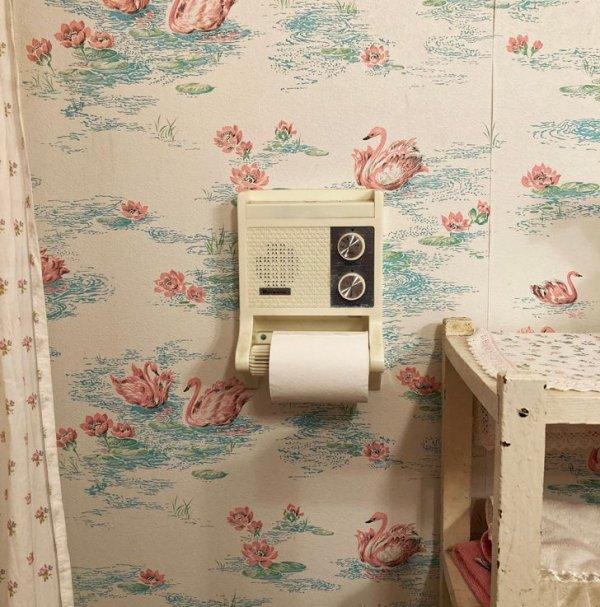 У бабушки есть держатель для туалетной бумаги, в который встроено радио