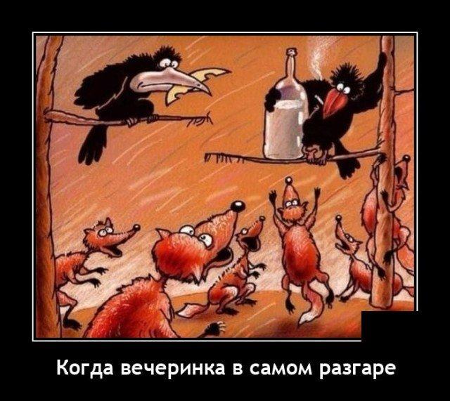Демотиватор про вечеринку