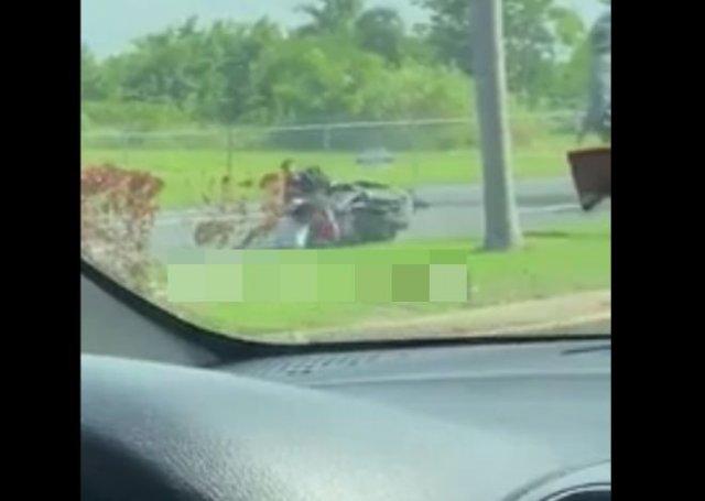 Эпичное задержание мотоциклиста