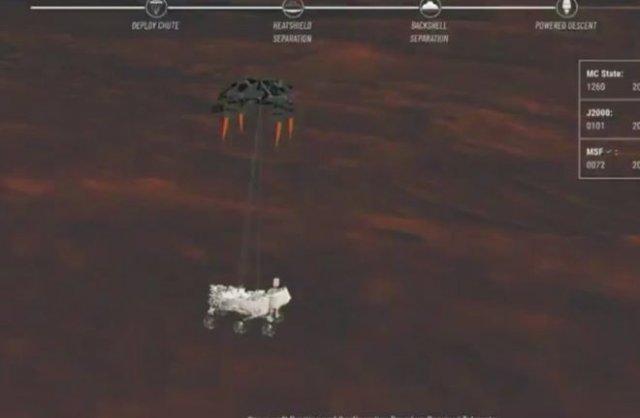 Марсоход Perseverance успешно сел на поверхность Марса и прислал первое фото