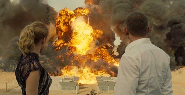 Взорванная база «Спектр» из фильма о Джеймсе Бонде «007: Спектр» (2015)