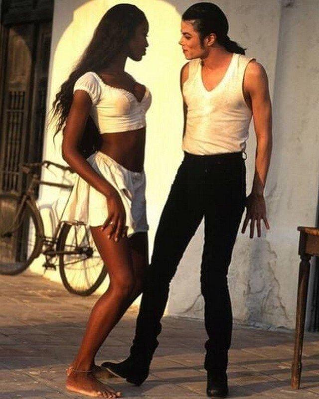 Наоми Кэмпбелл и Майкл Джексон, 1992 год
