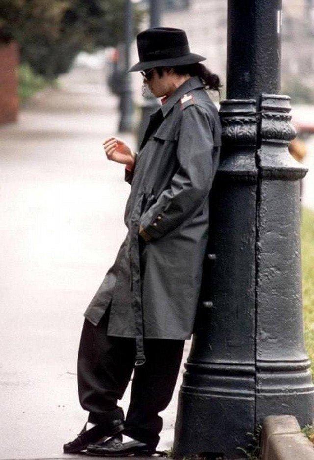 Майкл Джексон в Москве. Снимок сделан во время его первого визита в Россию, 1993 год.