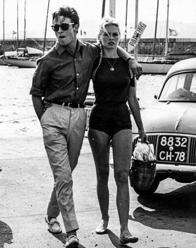 Ален Делон и Бриджит Бардо, 1968 год.