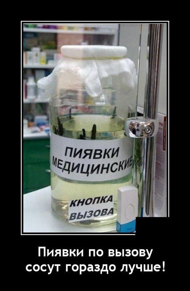 Демотиватор про пиявок