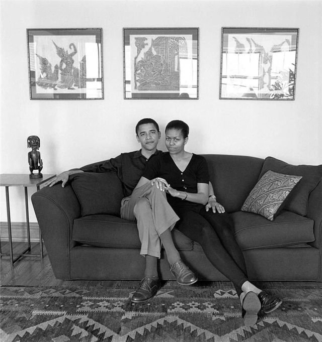 Барак и Мишель Обама, 26 мая 1996 года.