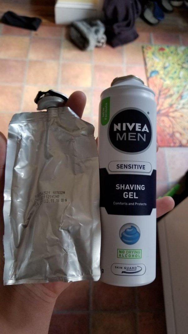 Что будет, если разобрать банку крема для бритья