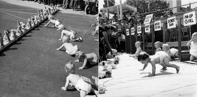 Забеги младенцев. Популярные спортивные состязания в Нью-Джерси с 1946 по 1955 год.