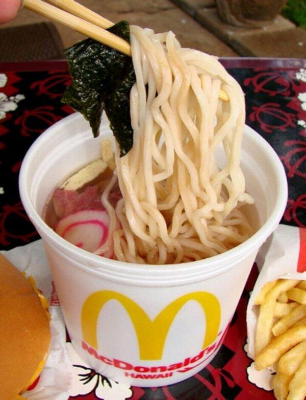 Только на Гавайях вы можете заказать в McDonald's саймин - местный традиционный суп с лапшой