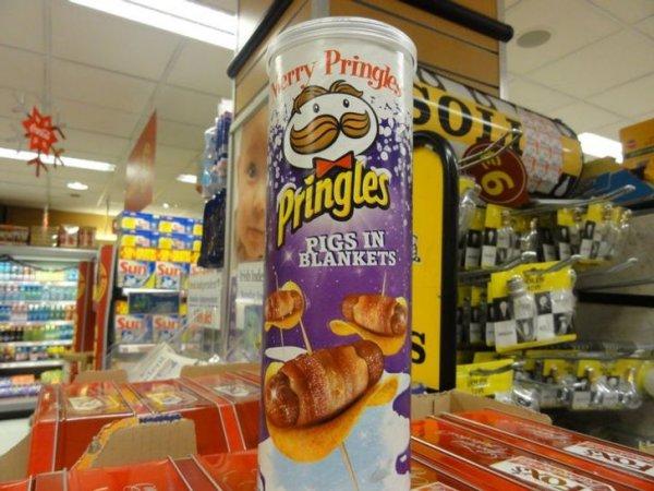 Чипсы Pringles во вкусом сосиски в тесте родом из Ирландии