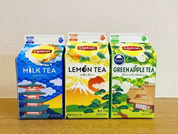 В Японии чай Lipton выпускается в картонных упаковках