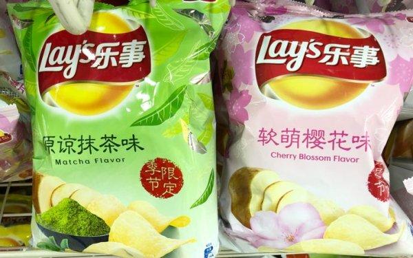 В Японии вы найдете чипсы Lay's со вкусом чая матча и сакуры