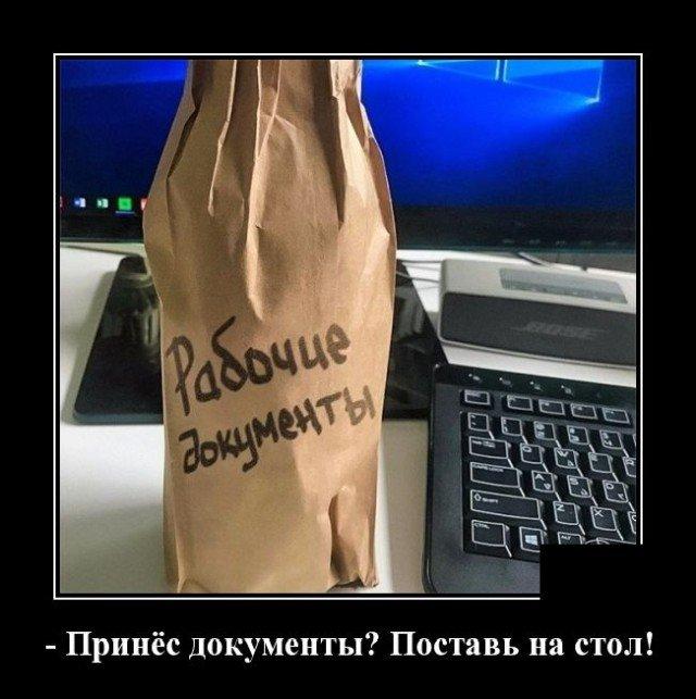 Демотиватор про документы
