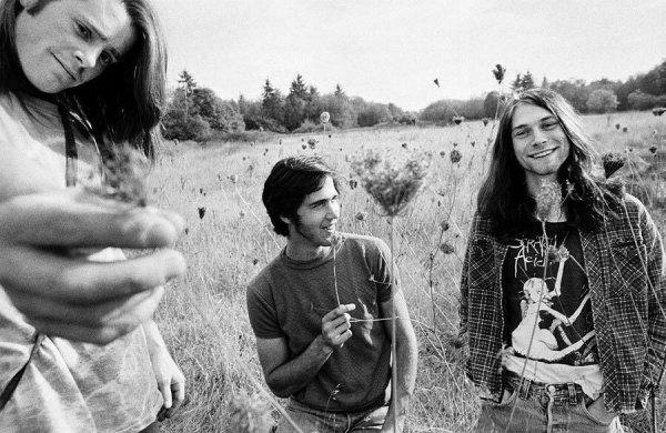 Одна из первых фотосессий группы Nirvana, 1988 год