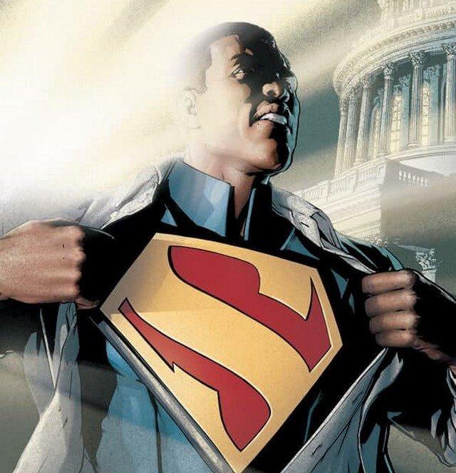 Майкл Б. Джордан в образе Супермена