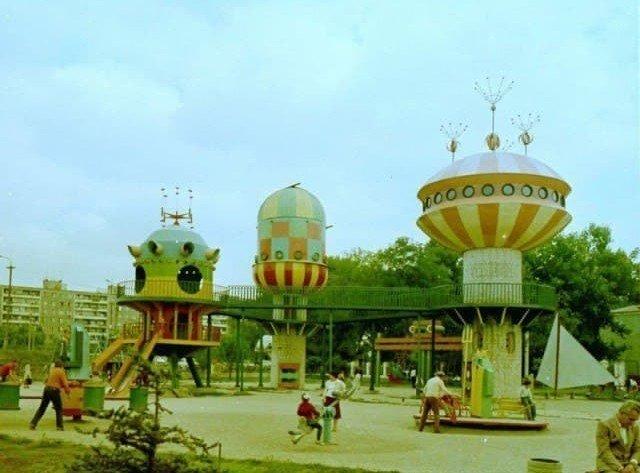 Детская площадка, 1980–е годы, Днепропетровск
