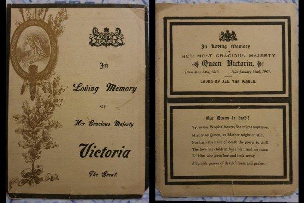 Извещение о смерти королевы Виктории, найденное в заброшенном доме