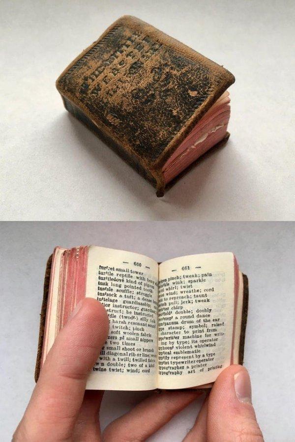 Крошечный старинный словарь моего дедушки
