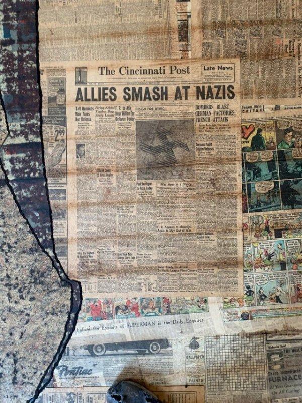 Заголовок гласит: «Союзники громят нацистов»
