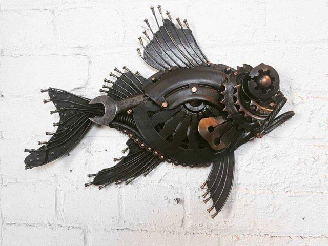 Алан Уильямс - скульптор по металлу, создающие настоящие шедевры из металлолома
