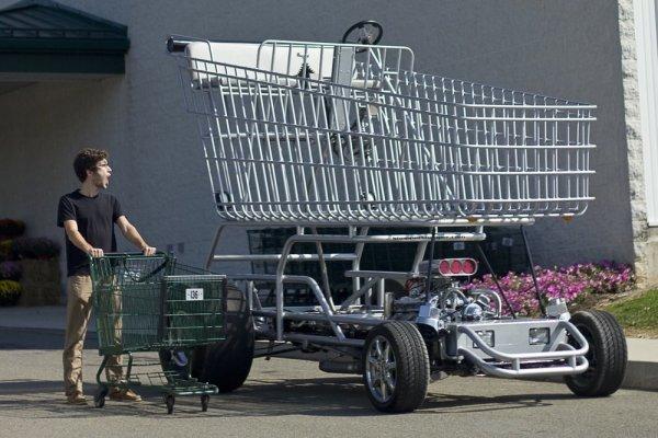 Shopper Chopper — это трёхметровая тележка для покупок