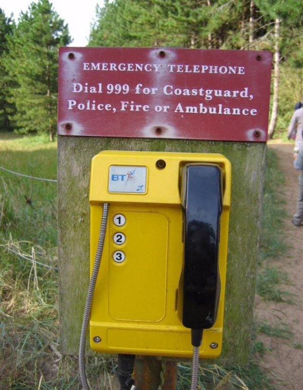 И как набрать 999 на этом телефоне?