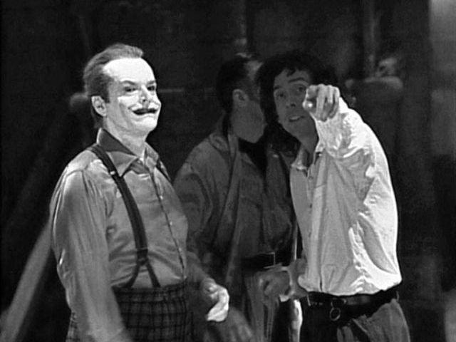 Джек Николсон в роли Джокера на съемках фильма о Бэтмене