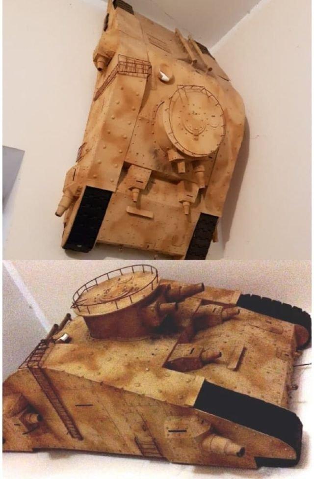 Оригинальная модель танка из рубрики «Железный капут», передачи «Каламбур»