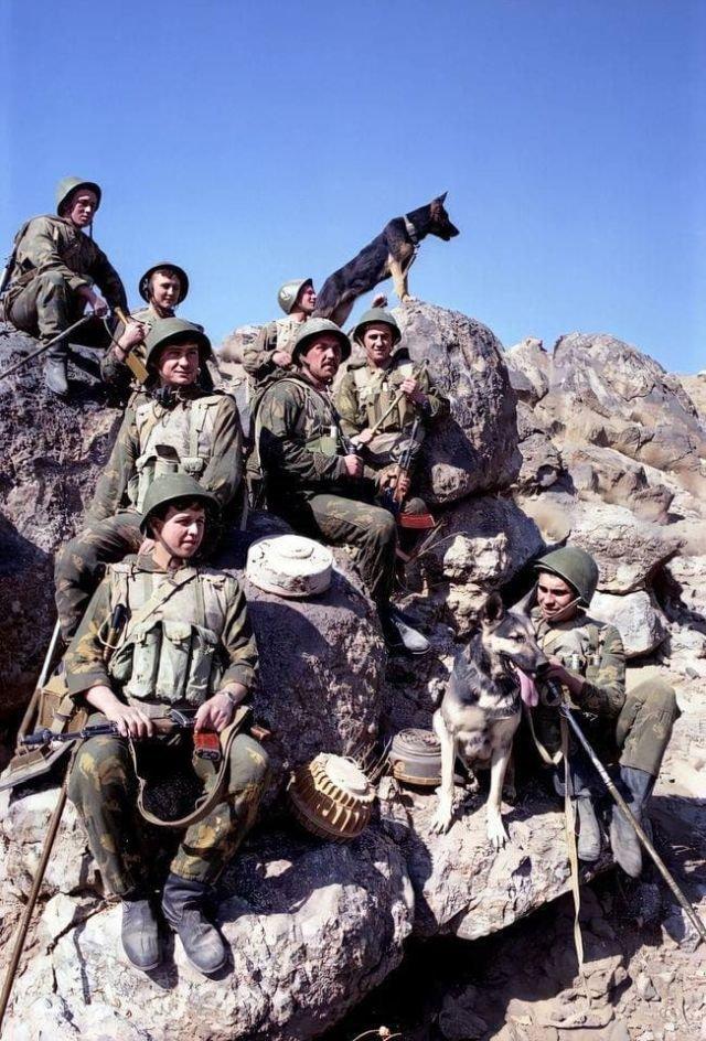 Советские саперы в Афганистане 1989 год.
