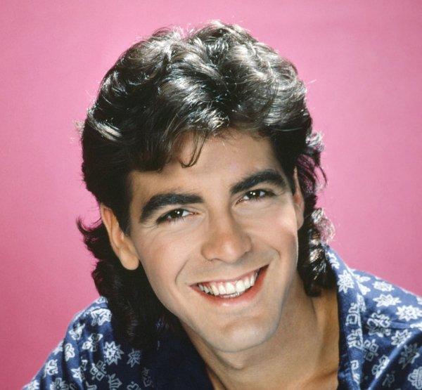Джордж Клуни с длинными волосами