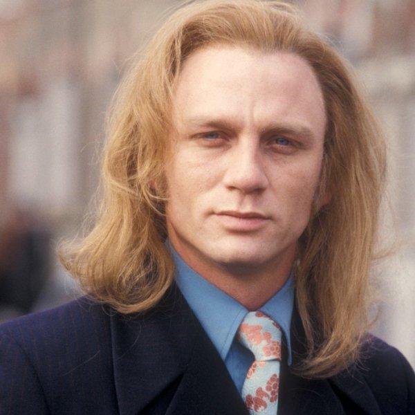 Дэниел Крейг с длинными волосами